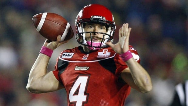 Calgary Stampeders quarterback Drew Tate was diagnosed with a strained forearm muscle in his throwing arm on the weekend.