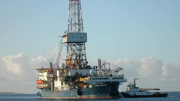 The Frontier Discoverer drilling rig shown at Dutch Harbor, Alaska, in 2007. Imperial Oil Canada, Exxon Mobil and BP have jointly filed an application to drill at least one well in the Beaufort Sea 125 kilometres northeast of Tuktoyaktuk, N.W.T.