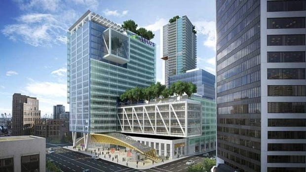 Amazon has leased 91,000 square feet, with the option to lease 95,000 more in the new Telus Garden building in downtown Vancouver. CBC