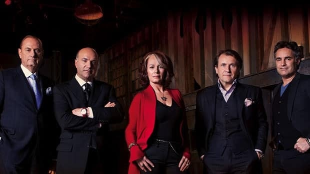The 'dragons' of Dragons' Den, from left, are Jim Treliving, Kevin O'Leary, Arlene Dickinson, Robert Herjavec and Bruce Croxon.
