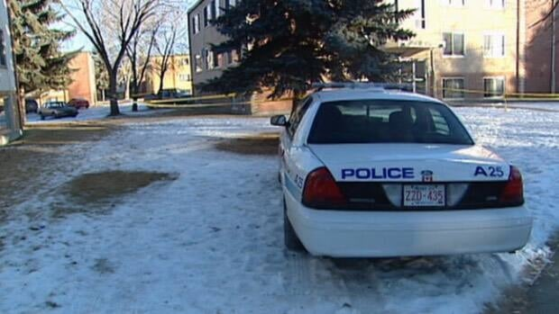 Police investigate at a Regina apartment after a man was found dead Sunday morning.