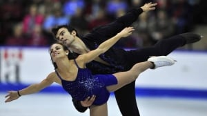 Canada's Meagan Duhamel and Eric Radford perform their free program in the pairs competition at the World Figure Skating Championships Friday in London, Ont.