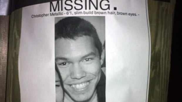 Christopher Metallic, 20, was last seen leaving a house party on Nov. 25.