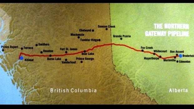 The Northern Gateway pipeline would carry oil to tankers for export to the U.S. and Asia.