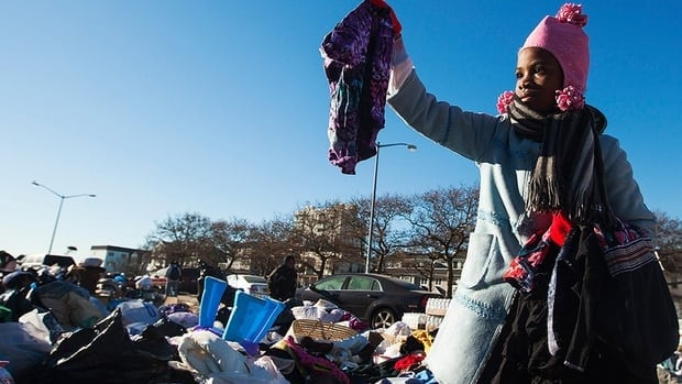 Donated items poured into areas of the U.S. ravaged by superstorm Sandy.
