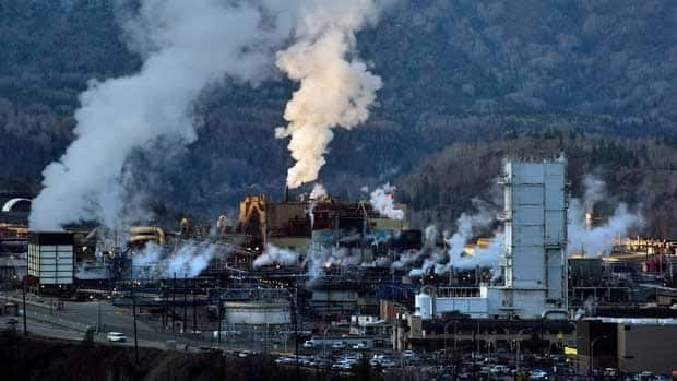 Teck Mining Company's zinc and lead smelting and refining complex is pictured in Trail, B.C.