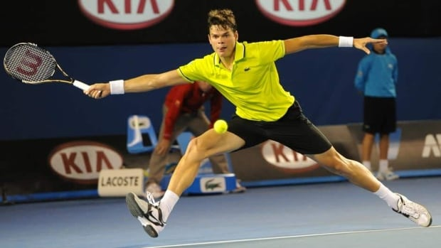 Canada's Milos Raonic, shown in this file photo, was defeated in straight sets by Rafael Nadal on Saturday in Barcelona.