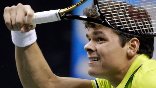 Canada's Milos Raonic was injured in his first Wimbledon appearance in 2011.