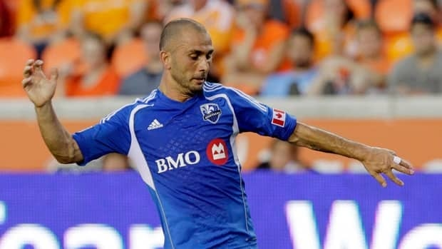 Montreal Impact Marco Di Vaio during a match at the Olympic Stadium in Montreal on Saturday March 16, 2013.