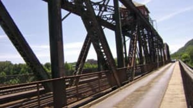 The James Street bridge in Thunder Bay,  a passageway for rail, automotive and pedestrian traffic across the Kaministiquia River, has been closed to vehicle traffic since October 2013.