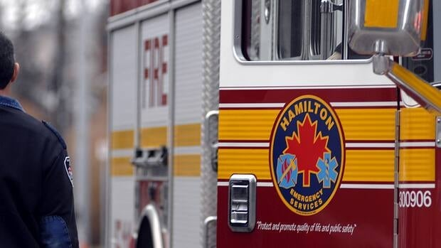 Crews put out a basement fire on Beechwood Ave. in Hamilton on Thursday night.