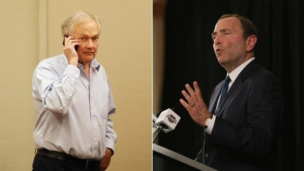 NHL commissioner Gary Bettman, left, and NHLPA executive director Donald Fehr are expected to get together again on Thursday with a mediator to continue labour talks.