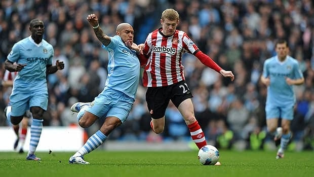23-year old Ireland winger James McClean was an unexpected spark for club-side Sunderland, despite only making his Premiership debut in December. McClean will give opposing defenders problems with his pace and dribbling ability.