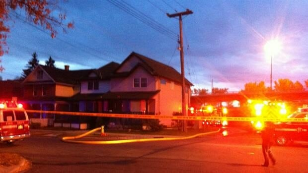 A garage fire lit up the skies near Memorial Drive in Bridgeland on Monday morning.