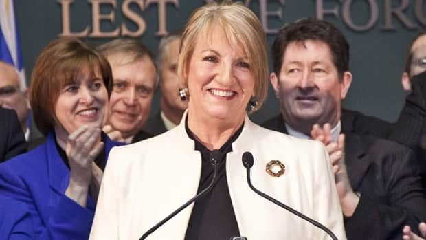Premier Kathy Dunderdale hosted a celebration on Dec. 17 while announcing the sanctioning of the Muskrat Falls hydroelectric project.
