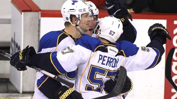 David Perron of the St. Louis Blues prepares to pass against the Los Angeles Kings during a 1-0 Kings win in Game Three of the Western Conference Quarterfinals during the 2013 NHL Stanley Cup Playoffs at Staples Center on May 4, 2013 in Los Angeles, California.