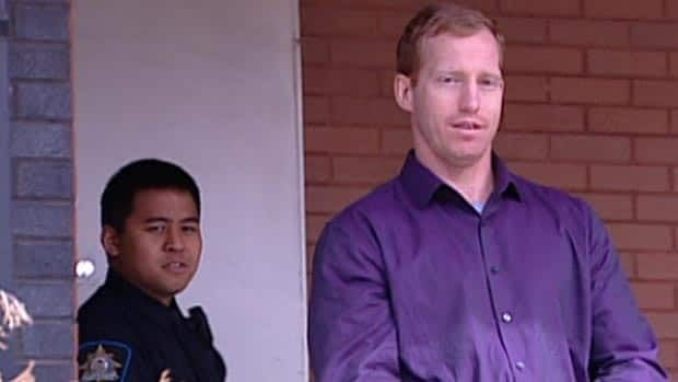 Travis Vader leaves Edson Provincial Court in May 2012 after making his first appearance in the case of missing St. Albert couple, Lyle and Marie McCann. The Crown stayed first-degree charges against Vader in March.
