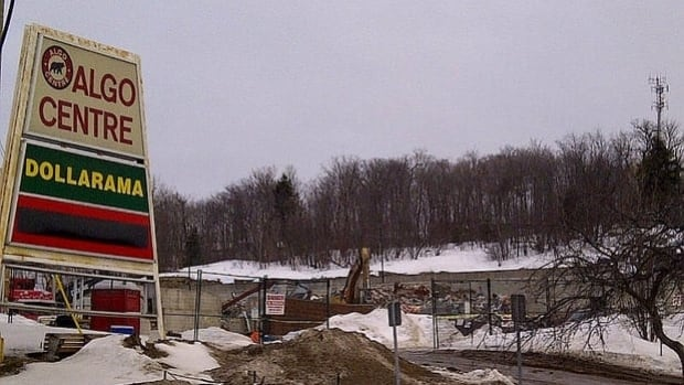 Demolition of the Algo Centre Mall in Elliot Lake, Ont., took place in March.
