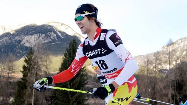 Canadian Len Valjas, seen here in competition last month, became the first Canadian cross-country skier to reach the men's podium this season with Tuesday's third-place finish at the third stage of the Tour de Ski.