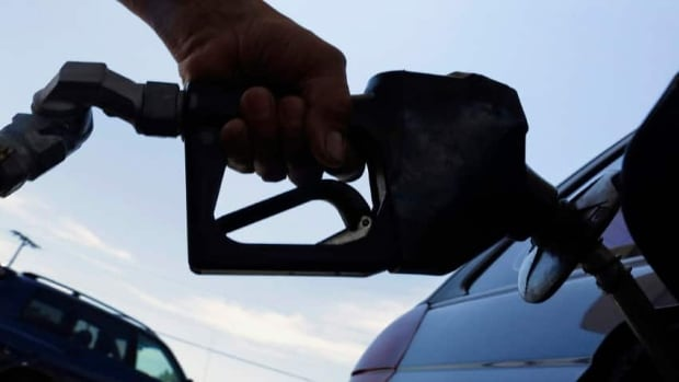Gas prices are down Thursday by just a fraction of a penny per litre.