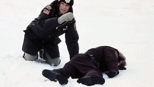 In this 1996 still, actress Frances McDormand, left, is shown in a scene from the movie Fargo. Now, 16 years later, a TV series based on the film is shooting in Alberta.