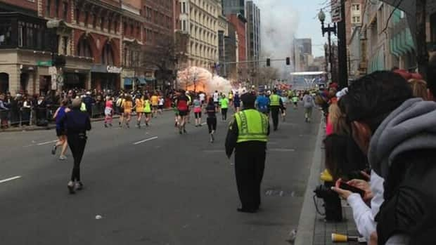 Authorities in Boston are now asking witnesses to share any photos and videos taken from near the finish line to help investigators gather clues.
