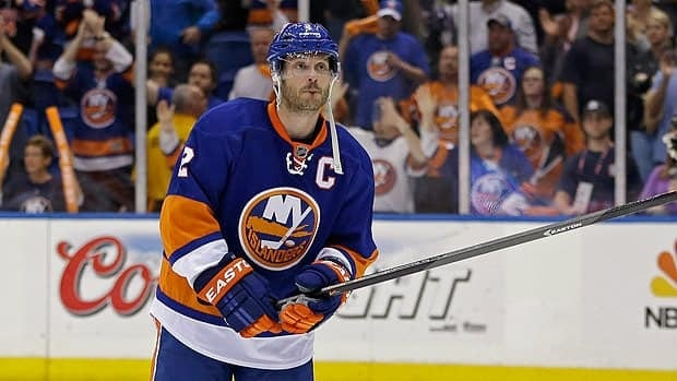 Mark Streit played in his final game with the New York Islanders following the team's elimination to Pittsburgh in the opening-round of the playoffs.