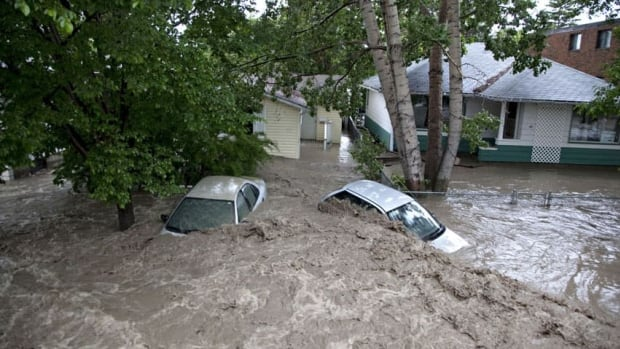 About 60 per cent of High River was under water when the Highwood River rushed over its banks June 20, turning downtown streets into rivers and many neighbourhoods into lakes.