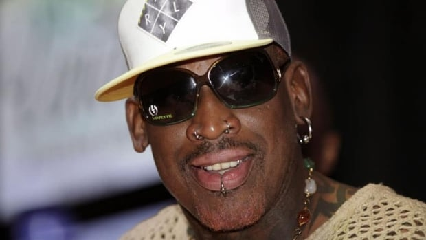 Dennis Rodman played a basketball game against a North Korean team and sang Happy Birthday to the country's leader Kim Jong-un to celebrate his birthday.