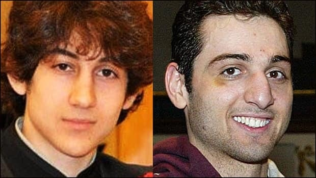 Chechen-Canadians say they are devastated to find out Boston police suspect 19-year-old Dzhokhar Tsarnaev (left) and his brother 26-year-old Tamerlan of carrying out the Boston Marathon bombings.