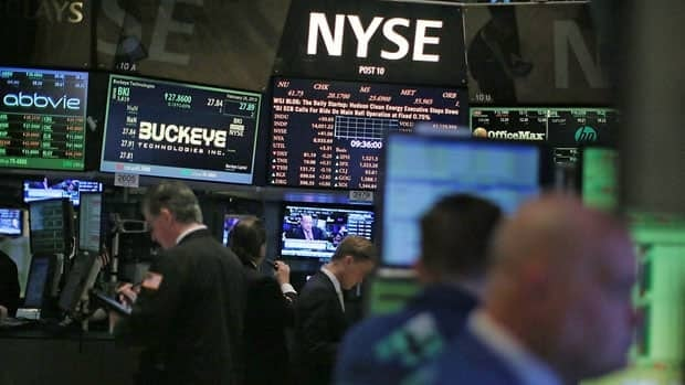 The Dow Jones industrial average fell more than 200 points Monday.