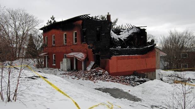 Two bodies have been pulled from the rubble of a 20-unit rooming house on Elizabeth Street in Sudbury that was razed by fire on Wednesday. More people are still unaccounted for, officials say.
