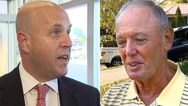 Doug Holyday, the deputy mayor of Toronto (right), and Coun. Peter Milczyn (left) will be squaring off in the upcoming Etobicoke-Lakeshore byelection on Aug. 1.