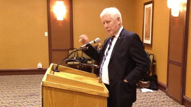Bob Rae spoke to Thunder Bay's Chamber of Commerce about his vision for sharing the wealth in the Ring of Fire mining development in Northern Ontario