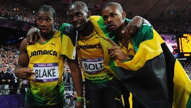 Warren Weir, right, seen here with Usain Bolt and Yohan Blake, won bronze at the 2012 Olympic Games.
