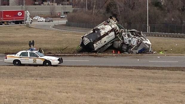 Police said the damage to the truck was significant, but only minor injuries were reported.