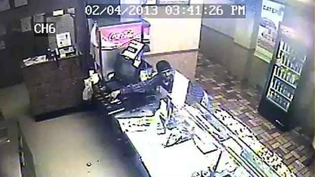 Abbotsford police are searching for a suspect who robbed a Subway restaurant on Monday.