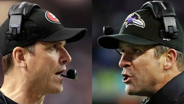 49ers coach Jim Harbaugh will face off against brother and Ravens counterpart John in Super Bowl XLVII on Feb. 3.