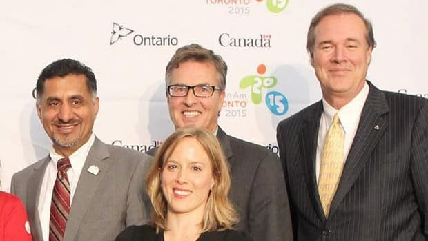 Henry Storgaard, back centre, has been CEO of the Canadian Paralympic Committee since 2009.