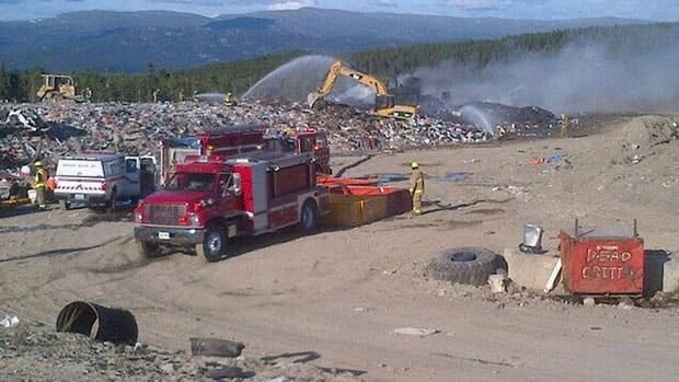 There was an all-out effort by firefighters Wednesday night to prevent a fire at the Whitehorse landfill from spreading.