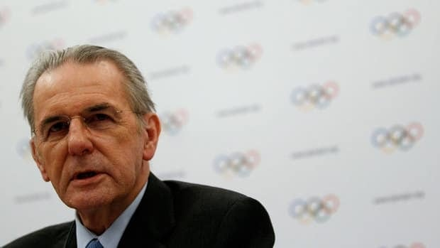 International Olympic Committee president Jacques Rogge addresses the media during a news conference at the end of a two-day executive board meeting Wednesday in Lausanne, Switzerland.