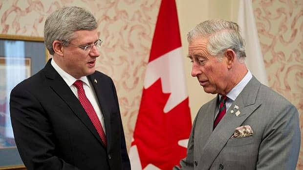 Prince Charles, seen here during a meeting with Prime Minster Stephen Harper in Regina last May, is said to hold concerns about the religious aspect of new legislation to change the royal line of succession.