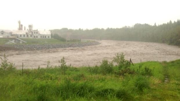 Some Turner Valley homes were also evacuated because of flooding in the area.