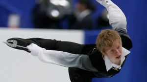 Kevin Reynolds of Canada during the men's free skating event at the Four Continents event in Osaka, Japan, Saturday, Feb. 9, 2013.