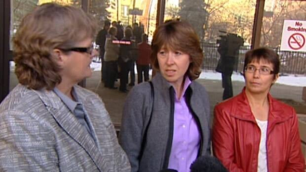 Sue Thomas (left), Heather O'Bray, and Suzanne Jackett cared for Betty Anne Gagnon when she lived in Calgary.