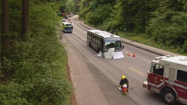 In May, a 61-year-old woman fell off the raised pathway and into the path of a West Vancouver bus.