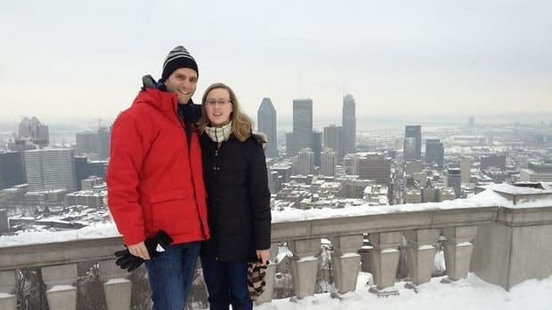 Canadian TV director and cameraman John Driftmier, known for shooting TV documentary shows in extreme conditions has died at the age of 30. He is seen here with his wife, Carolyn.