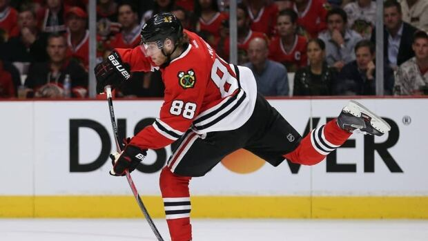Patrick Kane led Chicago this season with 55 points, on 23 goals and 32 assists.