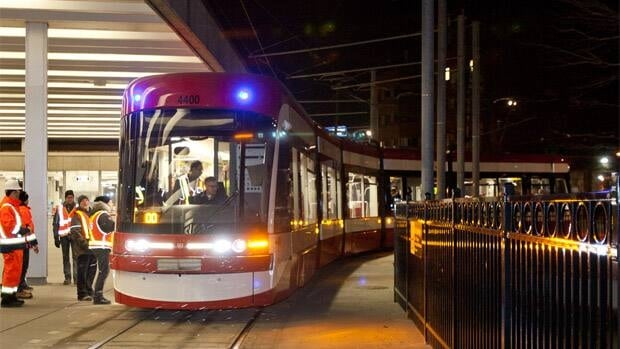 The TTC's Brad Ross tweeted several pictures of the new streetcar being tested overnight.