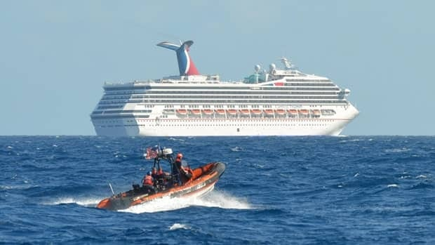 The Carnival Triumph has been floating aimlessly about 240 kilometres miles off the Yucatan Peninsula since a fire erupted in the aft engine room early Sunday.